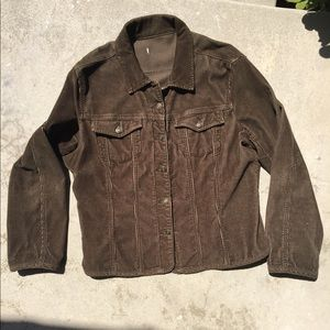 Brown-Olive Corduroy Jean Jacket